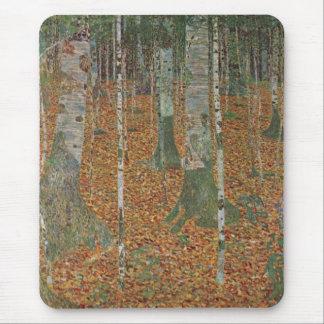 Bosque del abedul de Gustavo Klimt arte Nouveau d Alfombrilla De Raton