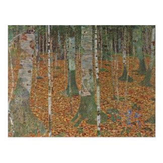 Bosque del abedul de Gustavo Klimt arte Nouveau d Tarjetas Postales