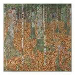 Bosque del abedul de Gustavo Klimt, arte Nouveau Invitación Personalizada