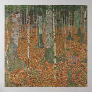 Bosque del abedul de Gustavo Klimt, arte Nouveau Posters