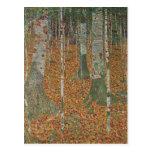 Bosque del abedul de Gustavo Klimt, arte Nouveau Postal