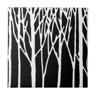 Bosque del abedul por las pimientas de Leslie Azulejo Cuadrado Pequeño