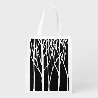 Bosque del abedul por las pimientas de Leslie Bolsas De La Compra