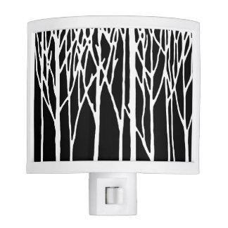 Bosque del abedul por las pimientas de Leslie Luces De Noche