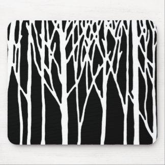 Bosque del abedul por las pimientas de Leslie Alfombrilla De Ratón