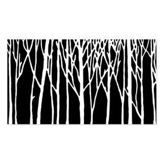 Bosque del abedul por las pimientas de Leslie Plantillas De Tarjetas De Visita