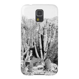 Bosque del cactus en blanco y negro carcasas para galaxy s5