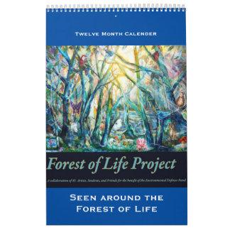 Bosque del calendario de la vida, visto alrededor