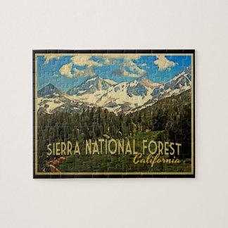 Bosque del Estado California de Sierra Puzzles Con Fotos