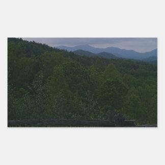 Bosque del Estado de Chattahoochee Pegatina Rectangular
