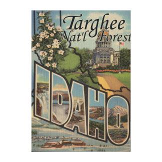 Bosque del Estado de Targhee, Idaho - escena grand Lona Estirada Galerías