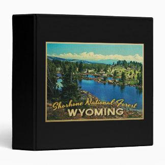 """Bosque del Estado Wyoming del Shoshone Carpeta 1 1/2"""""""
