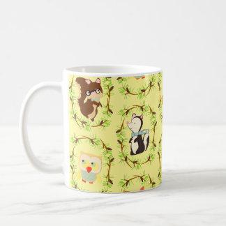 bosque del guión tazas de café