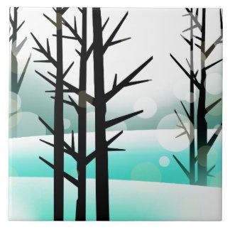 Bosque del invierno azulejo cuadrado grande