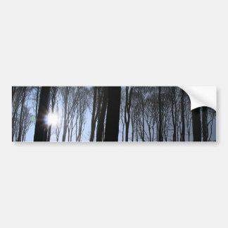 Bosque del invierno pegatina para coche