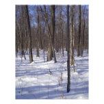 Bosque del invierno membrete a diseño