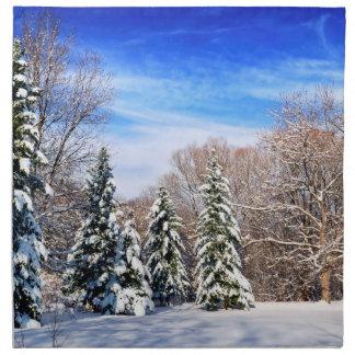 Bosque del invierno servilletas