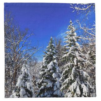 Bosque del invierno servilleta imprimida