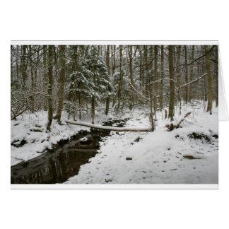 Bosque del invierno tarjeta de felicitación