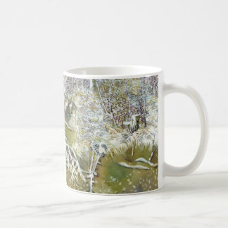 bosque del invierno taza básica blanca