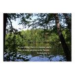 Bosque del lago Ecclesiastes de la estación Plantilla De Tarjeta De Visita