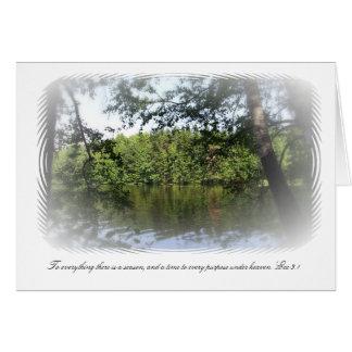 Bosque del lago Ecclesiastes de la estación Tarjeta Pequeña