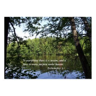 Bosque del lago Ecclesiastes de la estación Tarjetas De Visita Grandes