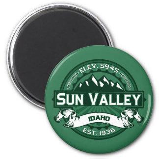 Bosque del logotipo de Sun Valley Imán Redondo 5 Cm