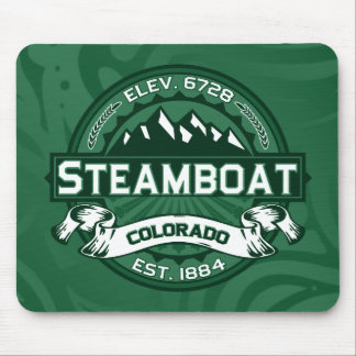 Bosque del logotipo del barco de vapor mouse pad