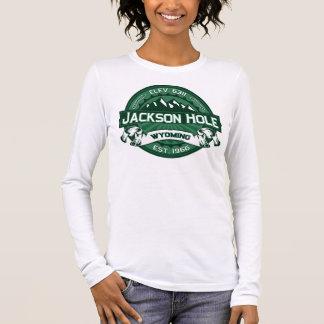 Bosque del logotipo del color de Jackson Hole Playera De Manga Larga