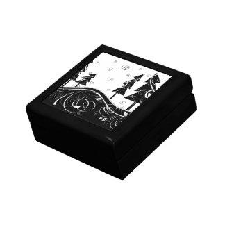 Bosque del navidad cajas de recuerdo