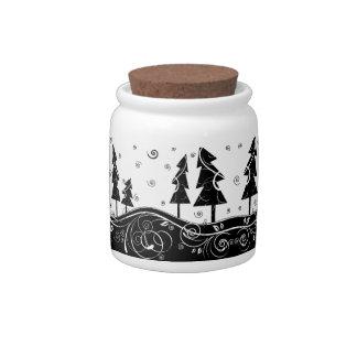 Bosque del navidad jarra para caramelo