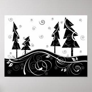 Bosque del navidad poster
