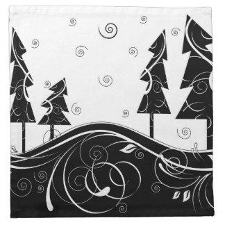Bosque del navidad servilletas de papel