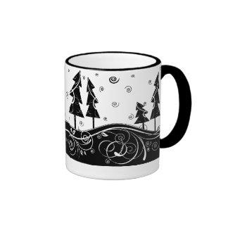 Bosque del navidad taza de café