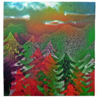 Bosque del pino del otoño servilletas de papel