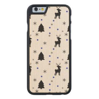 Bosque del pino del reno funda de iPhone 6 carved® slim de arce