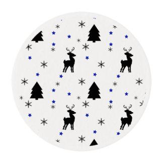 Bosque del pino del reno