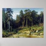 Bosque del pino en la provincia de Viatka Impresiones