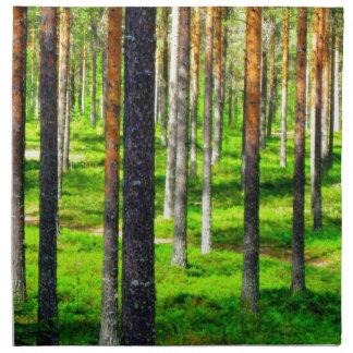 Bosque del pino servilletas