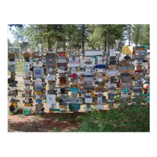 Bosque del poste de muestra, lago Watson, el Yukón Tarjetas Postales