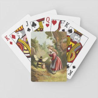Bosque del pote de la miel del chica del Victorian Cartas De Póquer