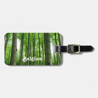 Bosque en Bélgica Etiqueta Para Equipaje