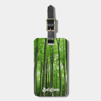 Bosque en Bélgica Etiquetas De Equipaje