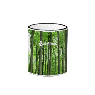 Bosque en Bélgica Tazas De Café