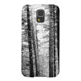 Bosque en blanco y negro carcasa para galaxy s5