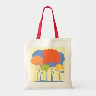 Bosque en colores pastel bolsa