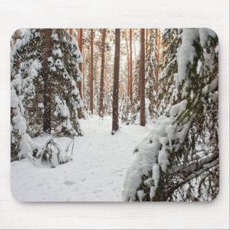 Bosque en invierno tapete de ratón