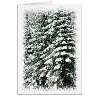 Bosque en invierno tarjeta de felicitación