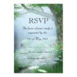 Bosque encantado del arbolado que casa RSVP Invitaciones Personales